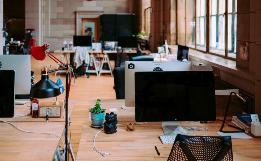 Modern open office environment